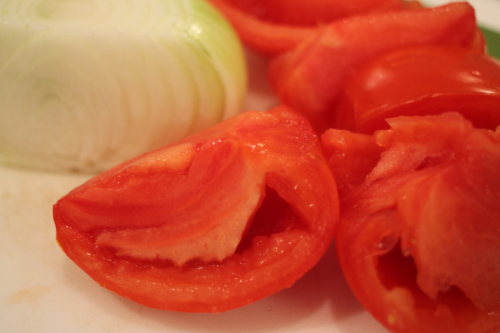 Tomatoes and onion